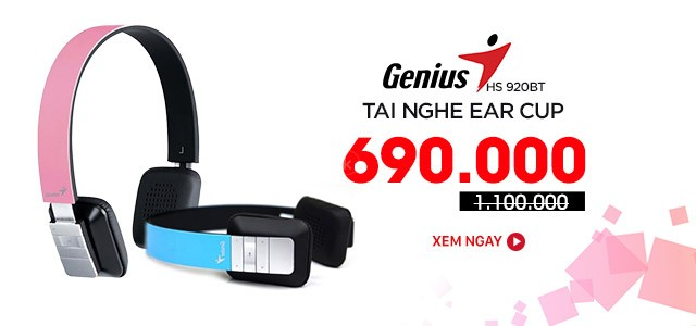 GENIUS - HS-920BT - Tai Nghe Bluetooth Ear-Cup