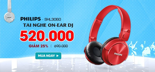 Philips - Tai Nghe On-Ear DJ - 520k